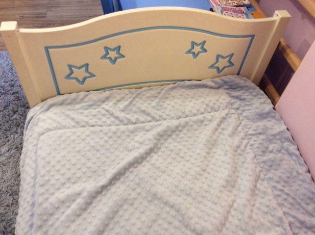 Łóżko dziecięce ecru 80x170