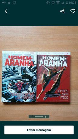 Livros BD homem aranha