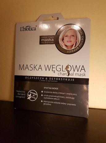 Maska węglowa oczyszcza detoksykuje Libotica maseczka twarz tkanina