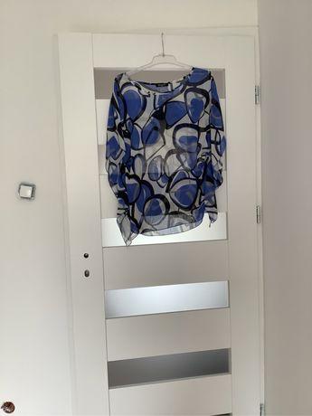 Bluzka we wzory kimonowa z ściągaczem przy rękawach