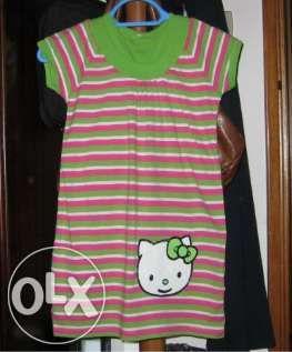 Vestido de criança COM a KITTY (como novo)