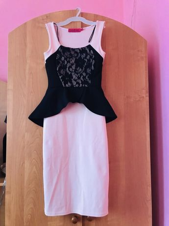 Платье с баской  s