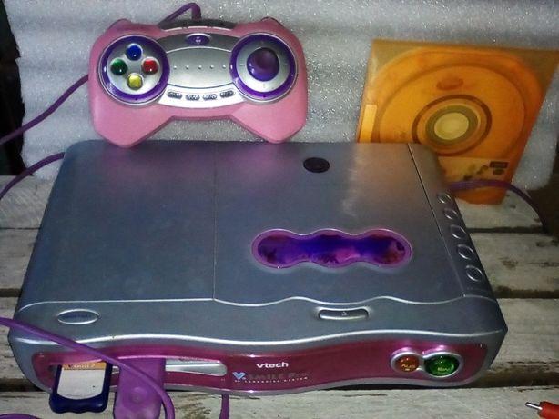 Konsola V-tech dla dzieci sprawna + dwie gry