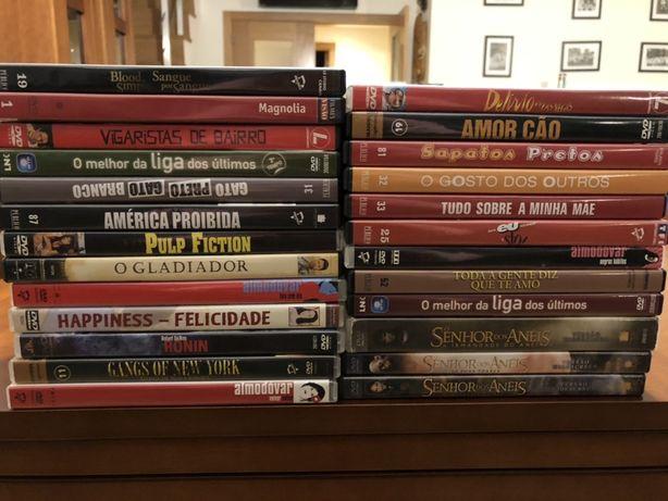 conjunto/lote 25 dvds gladiador senhor dos aneis pulp fiction..