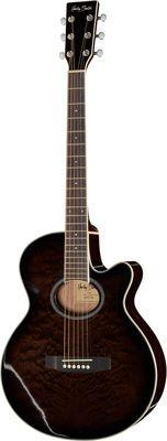 Nowa Gitara elektro akustyczna Harley Benton HBX5T BK