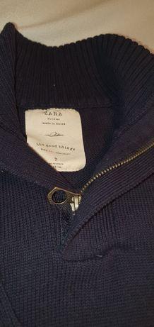 Piękny, elegancki sweter chłopiec Zara 122 cm 7 lat. Stan idealny.