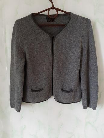 Теплющий шерстяной, кашемировый кардиган, свитер от Massimo dutti