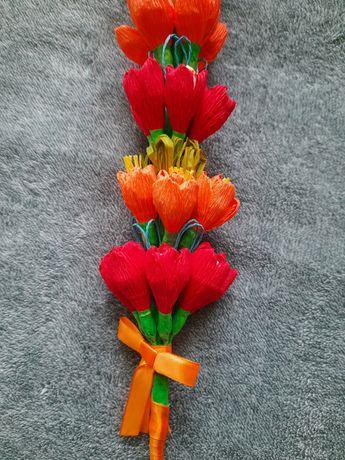 Wyjątkowa kolorowa palma Wielkanocna ręcznie wykonana wzór 5