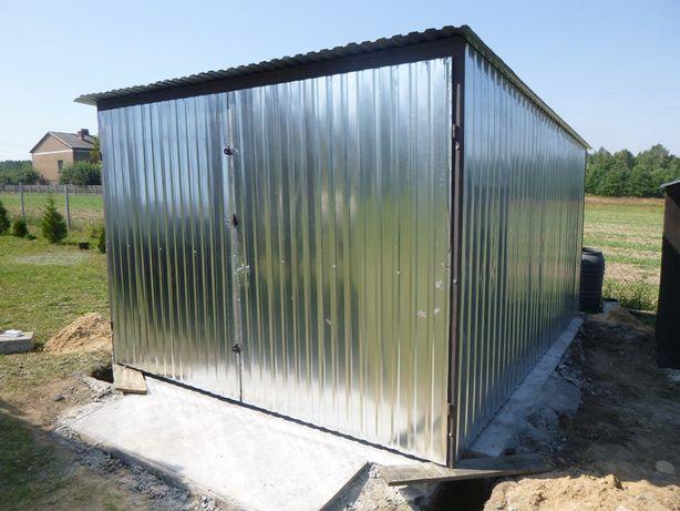 Garaż blaszany 3x5 Blaszak na budowę od PRODUCENTA Garaże Blaszaki