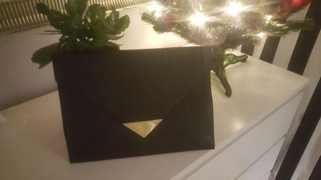 Kopertówka torebka czarna do ręki H&M