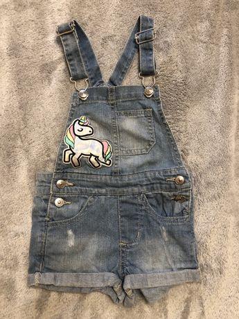 Комбинезон джинсовый летний Reserved 92см бу в хорошем состоянии