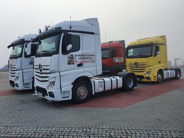 WYNAJEM pojazdów ciężarowych Actros Schmitz CHŁODNIA NACZEPA PLANDEKA