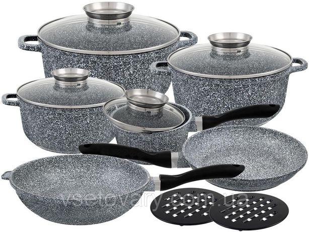 Набор посуды Edenberg с гранитным покрытием 16 предметов (EB-8040)