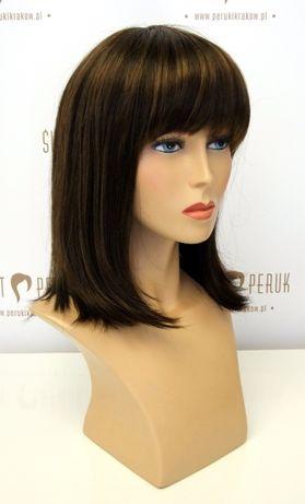 Peruka półdługa z grzywką z włosów syntetycznych Włocławek