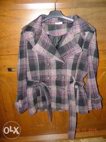 Ciepła kolorowa kurtka/krótki płaszczyk YESSICA rozm. 44