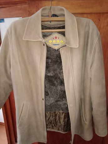 Продам мужскую зимнюю/осеннюю кожаную куртку