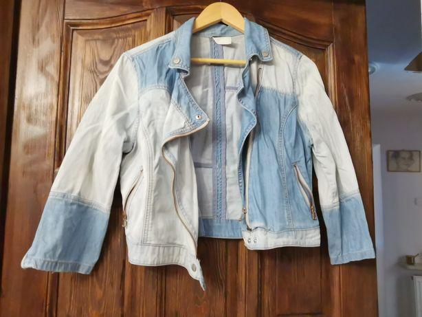 Jeansowa kurtka Reserved z klamrami!