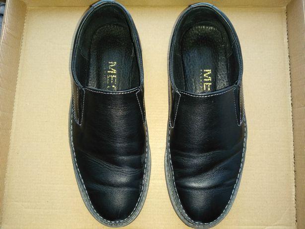 Туфли на мальчика кожаные размер 37, по стельке 23,7мм