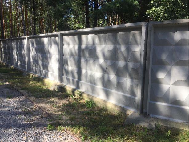 Забор 192м бетонный б/у, недорого,  2700грн/шт - 4х2,5м