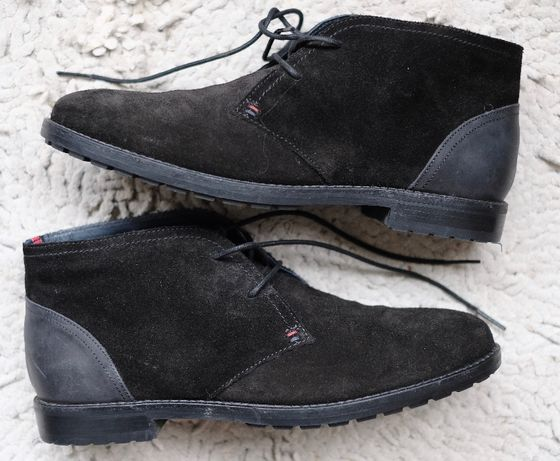 Buty skórzane Tommy Hilfiger zamszowe 40