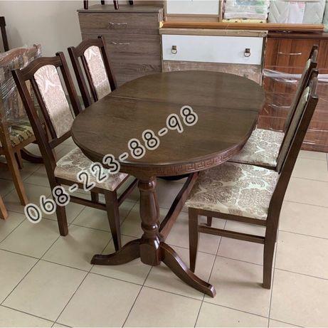 Кухонный комплект Карпаты. Стол и стулья. Столы. Стіл на кухню.