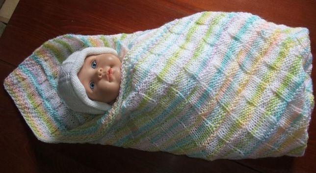 Плед в кроватку, в коляску, плед младенцу. Плед для новорожденного.