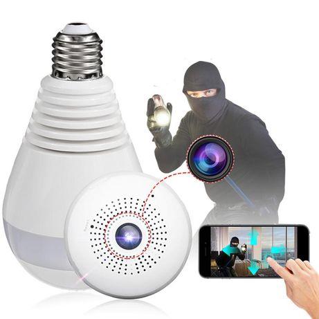 [NOVO] CÂMERA Vigilância Lampada c/ APP + WIFI + Visão Noturna FULL HD