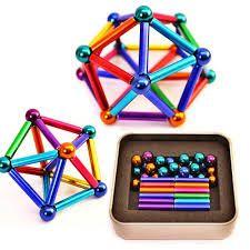 Магнитный конструктор Neo 36 палочек , 27 шариков разноцветный