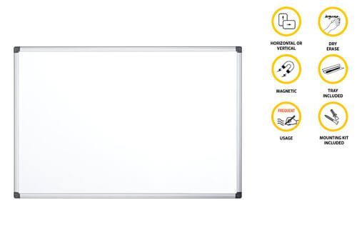 Quadro branco magnético p/escrita a marcador