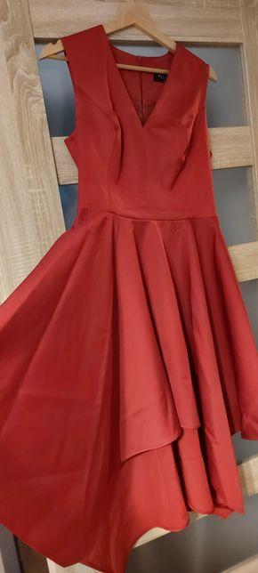 Przepiękna czerwona sukienka Mohito, rozmiar 40