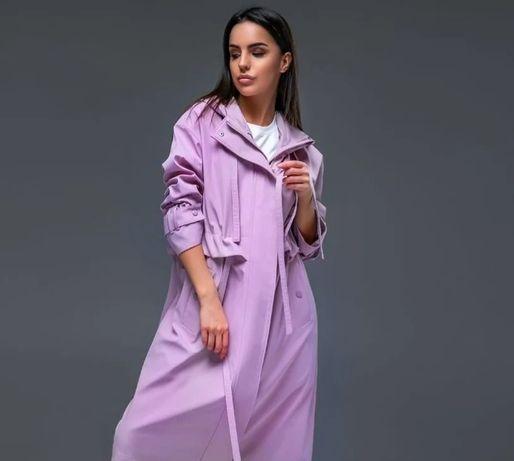 НОВЫЙ сиреневый  тренч ЛАВАНДОВЫЙ плащ фиолетовый пальто куртка пыльни