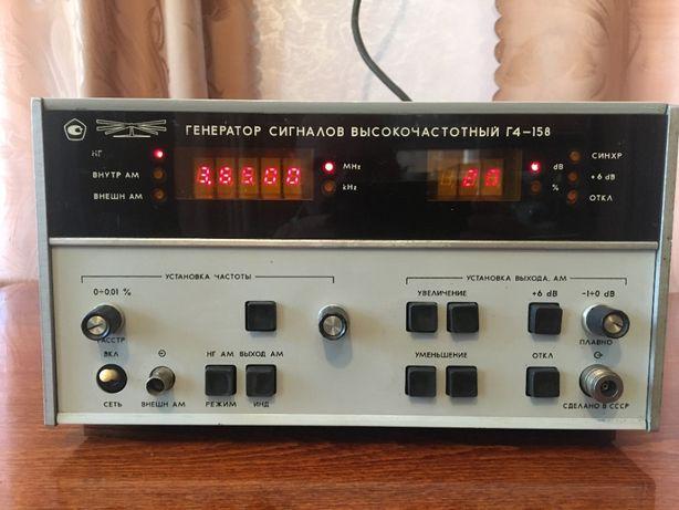 """Генератор сигналов """"Г4-158"""" частота 0,01-100МГц рабочий, только обмен!"""