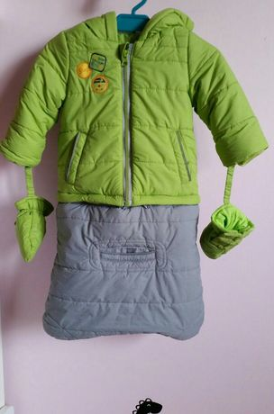 Kombinezon zimowy Coccodrillo roz. 68 + rękawiczki + Gratis 3 czapki