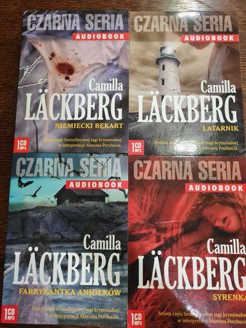 Sprzedam audiobook czarna seria zestaw 4 płyt mp3 Camilla Lackberg