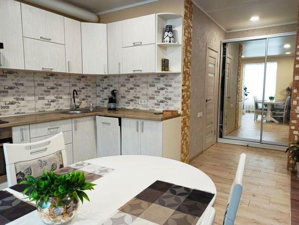 2 кімн. кв. євро планування! 80 м2, з ремонтом, меблями та технікою