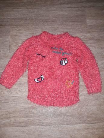 Пушистый свитер Losan для девочки 6-9 мес