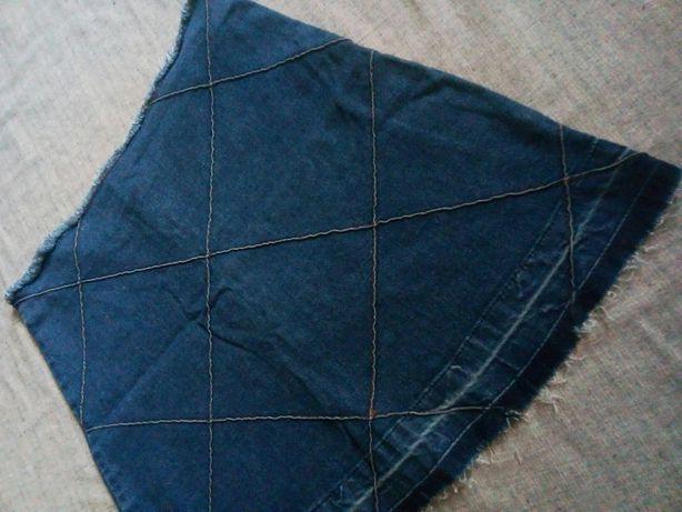 Юбка мини стрейч коттон с необработанными краями