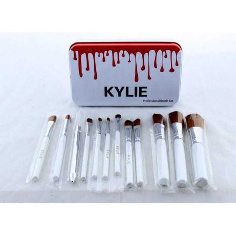 Новые Кисти для макияжа Kylie 12 шт набор кистей кисточки 12 шт Белые