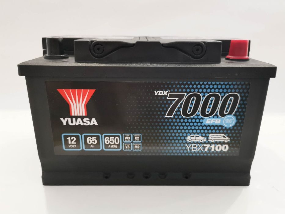 Akumulator YUASA YBX7100 EFB Start Stop 65Ah 650A Promocja!!!