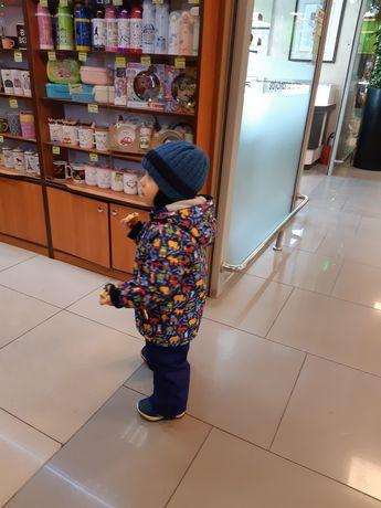 Продам зимний комбинезон, шапкана мальчика , зимний комплект 92-98