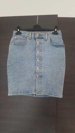 Levi's spódnica ołowkowa jasnoniebieska