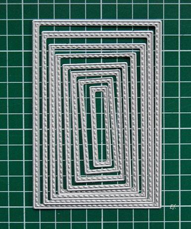Wykrojniki - 'prostokąty-komplet'