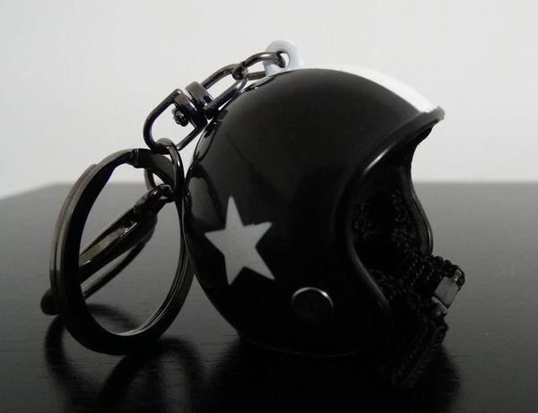 Capacete mota porta chaves branco/azul/vermelho/preto/..- NOVO