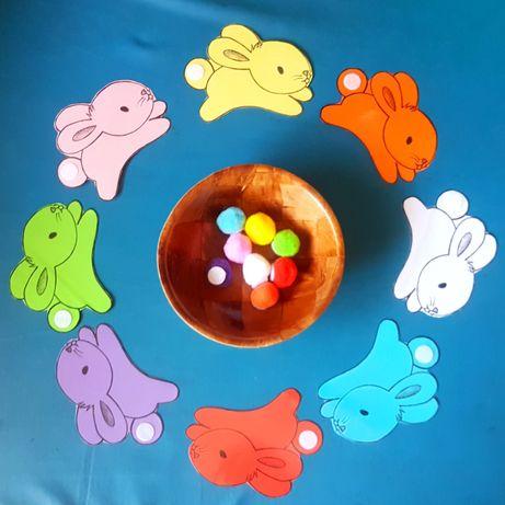 Jogo coelhinhos coloridos