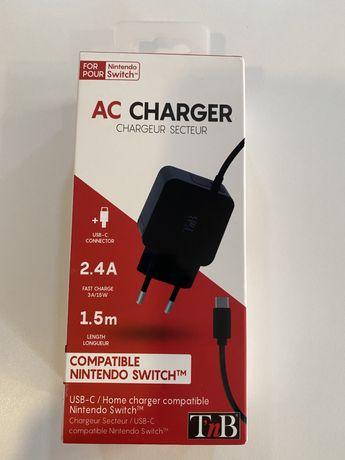 Carregador Nintendo Switch novo