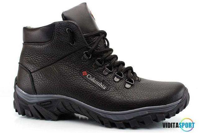 Мужские зимние ботинки Чоловічі черевики из натуральной кожи.Columbia