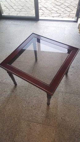 Mesas de centro com vidro