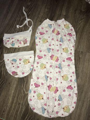 Кокон-пелёнка для новорожденных 0-3