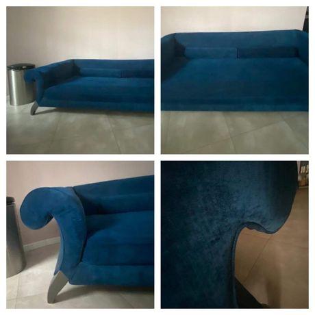 Duza Kanapa sofa granatowa Mebelplast