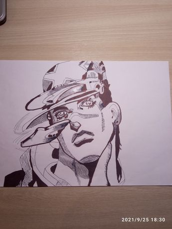 Рисунок ДжоДжо Джотаро Куджо